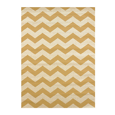 Gold Harper Chevron Area Rug, 5x7