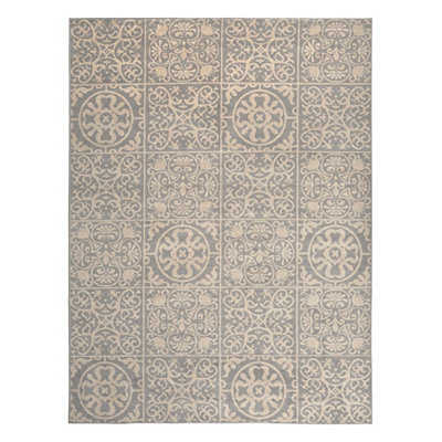 Gray Harper Patchwork Area Rug, 8x11