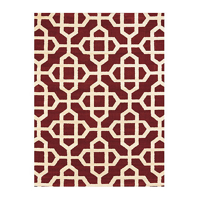 Red Harper Trellis Area Rug, 5x7
