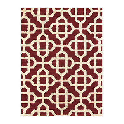 Red Harper Trellis Area Rug, 8x11