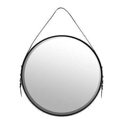 Cast Iron Round Mirror