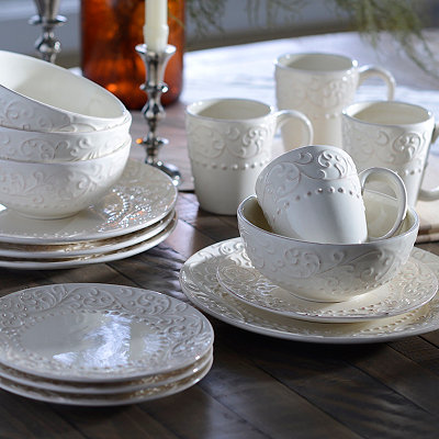 Bianca Cream Swirl Dinnerware Set