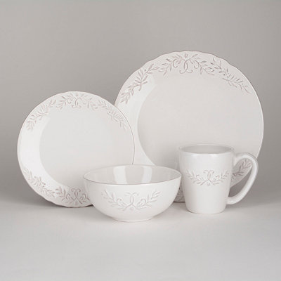Bianca White Laurel Dinnerware Set
