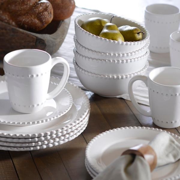 Bianca White Bead Dinnerware Set & Dishes | Dinnerware Sets | Kirklands