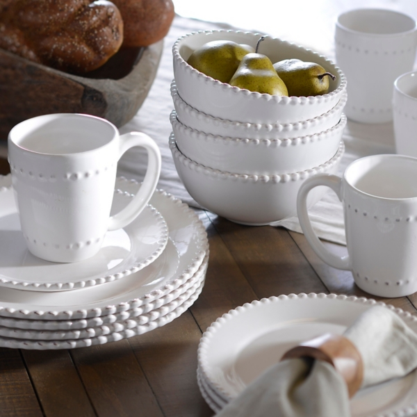 Bianca White Bead Dinnerware Set & Dishes | Dinnerware Sets | Kirklands