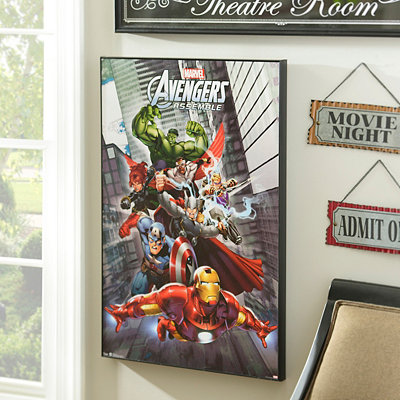 Avengers Assemble Framed Art Print