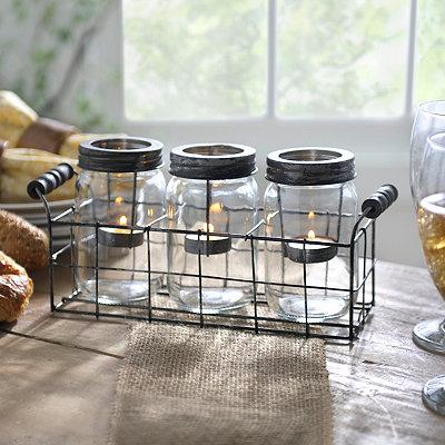 Mason Jar Tealight Candle Runner