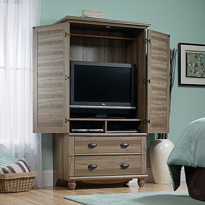 Harbor View Light Oak 2-Drawer TV Stand