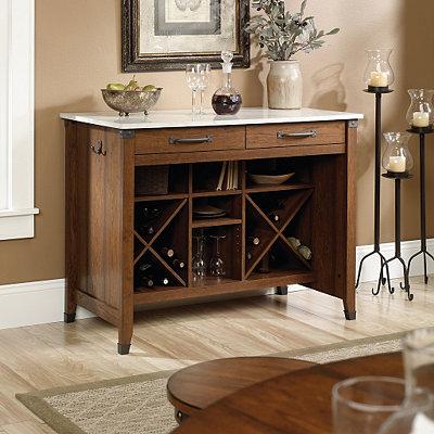 Carson Cherry Kitchen Cart & Wine Rack