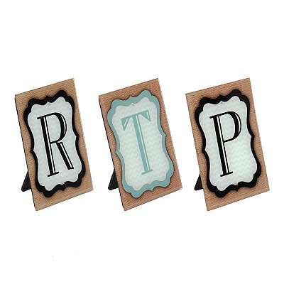 Monogram Glass Tabletop Plaques