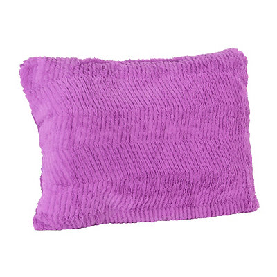 Purple Chevron Faux Fur Pillow