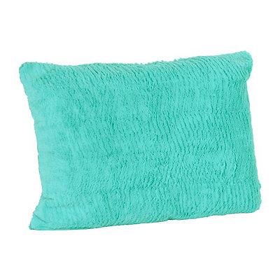 Turquoise Chevron Faux Fur Pillow