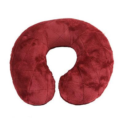 Burgundy Memory Foam Neck Pillow