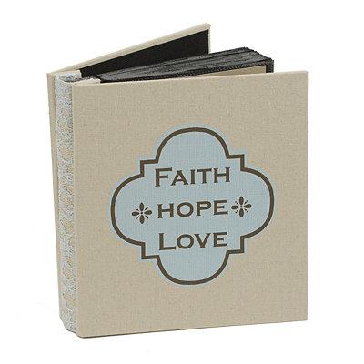 Faith, Hope, Love Burlap Photo Album