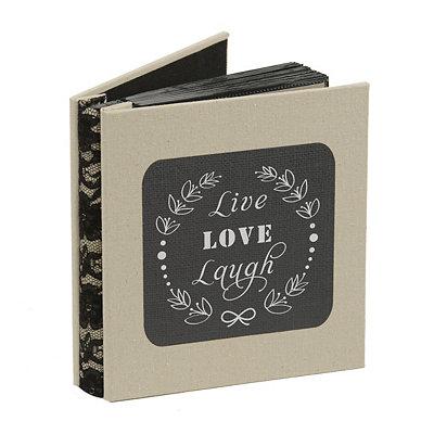 Live, Laugh, Love Burlap Photo Album