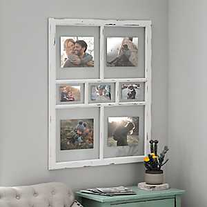 Distressed White Window Pane Collage Frame