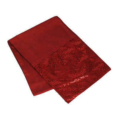 Red Glitz Sequined Table Runner