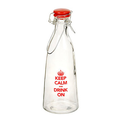 Keep Calm Drink On Bottle