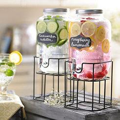 Chalkboard Beverage Dispensers, Set of 2