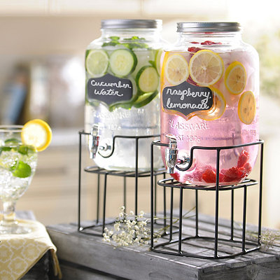 Chalkboard Beverage Dispensers, Set of 2