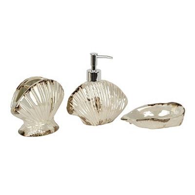 Pearl Shell 3-piece Bath Accessory Set