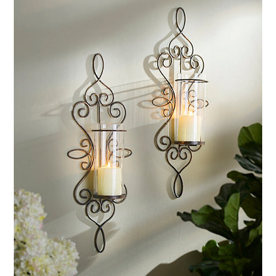 Harrison Scroll Sconces, Set of 2