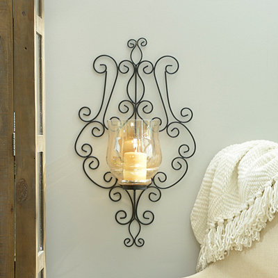 Amber Luster Scroll Sconce