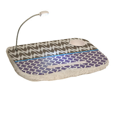 Black and Blue Lap Desk with Light