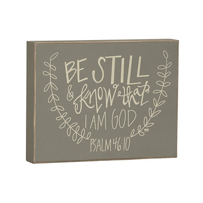 Be Still and Know Wooden Plaque