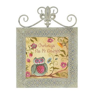 Owlways Kiss Me Goodnight Framed Plaque