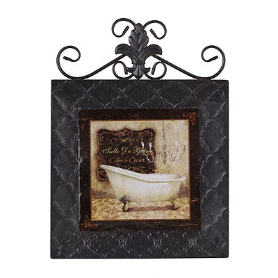 Classic Bath I Framed Plaque