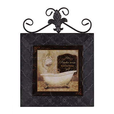 Classic Bath II Framed Plaque