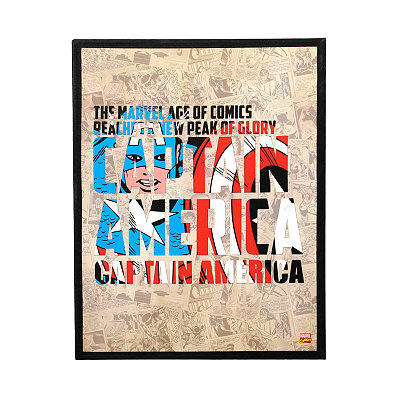 Captain America Canvas Plaque