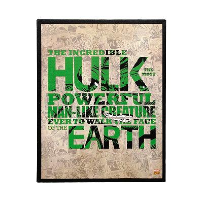 Incredible Hulk Canvas Plaque
