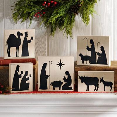 Nativity Wooden Blocks, Set of 5