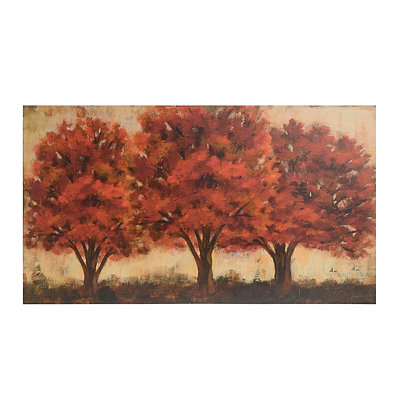 Glowing Red Trees Canvas Art Print