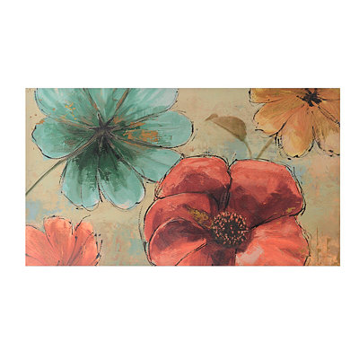 Watercolor Floral Canvas Art Print