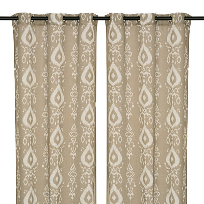 Gray Eleuthera Curtain Panel Set, 84 in.