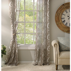 Taupe Eleuthera Curtain Panel Set, 84 in.