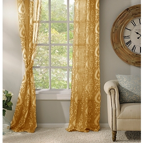 Yellow Eleuthera Curtain Panel Set, 84 in.