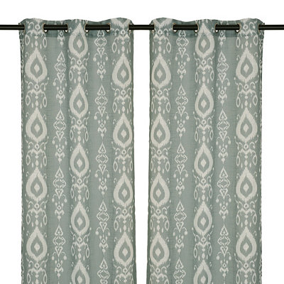 Ice Blue Eleuthera Curtain Panel Set, 84 in.