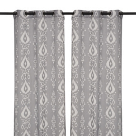 Gray Eleuthera Curtain Panel Set, 84 in.