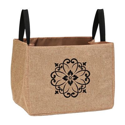Burlap Scroll Storage Bin