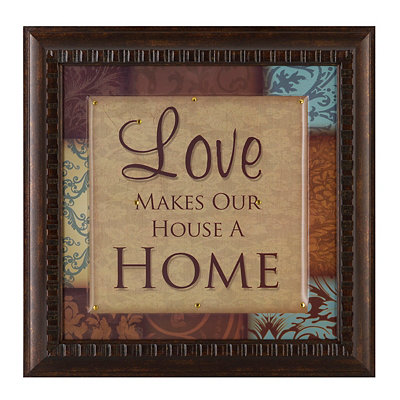 Love Makes Our Home Framed Art Print