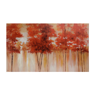 Red Trees Canvas Art Print