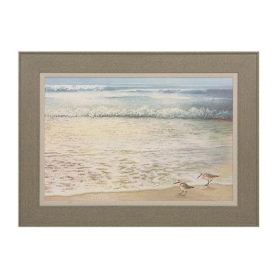 Strolling Along the Beach Framed Art Print