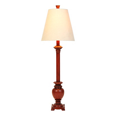 Auburn Red Buffet Lamp