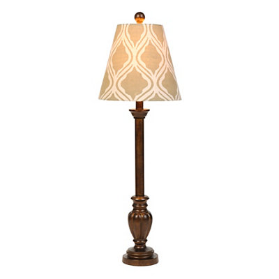 Bronze Patterned Buffet Lamp