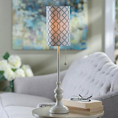 Cream Candlestick Buffet Lamp