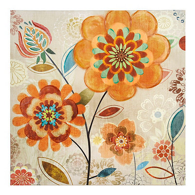Sunny Flowers Canvas Art Print